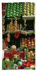 Oil Painted Faux Paris Fruit Display Beach Towel