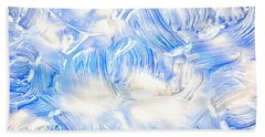 Oil Painting Abstract Background Beach Towel by Serena King