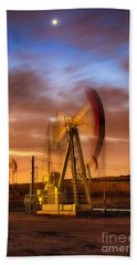 Oil Rig 1 Beach Towel
