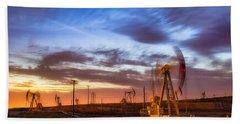 Oil Rigs 3 Beach Sheet