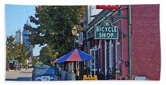 Ok Bicycle Yellow Sign Beach Sheet