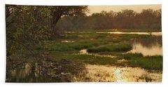 Okavango Delta Gold Beach Towel