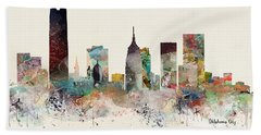 Oklahoma City Skyline Beach Towel