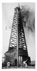 Oklahoma: Oil Well, C1922 Beach Towel