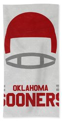 Oklahoma Sooners Vintage Football Art Beach Towel