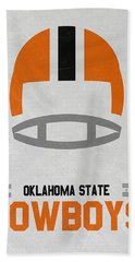 Oklahoma State Cowboys Vintage Football Art Beach Towel