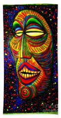 Ol' Funny Face Beach Towel by Kelly Awad