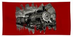 Old 104 Steam Engine Locomotive Beach Towel