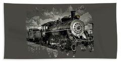 Old 104 Steam Engine Locomotive Beach Towel by Thom Zehrfeld