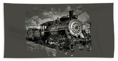 Old 104 Steam Engine Locomotive Beach Sheet by Thom Zehrfeld