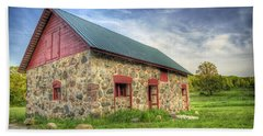 Old Barn At Dusk Beach Towel