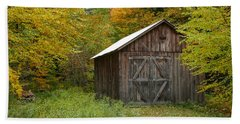 Old Barn New England Beach Towel