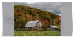 Old Barns Of Beauty In Ohio  Beach Towel