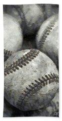 Old Baseballs Pencil Beach Sheet by Edward Fielding