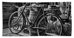 Beach Towel featuring the photograph Old Bicycle by Stuart Litoff