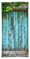 Old Blue Door Beach Towel