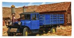 Old Blue 1927 Dodge Truck Bodie State Park Beach Towel by James Hammond