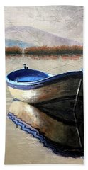 Old Boat Beach Towel by Janet King