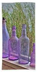 Old Bottle Collection Beach Sheet