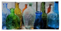 Beach Towel featuring the photograph Old Bottles by John Scates