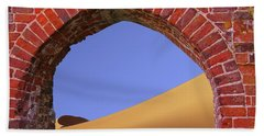 Old Brick Portal To The Desert Beach Towel