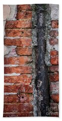 Beach Towel featuring the photograph Old Brick Wall Fragment by Elena Elisseeva