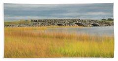 Old Bridge In Autumn Beach Sheet