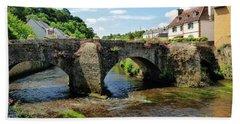 Old Bridge Over Elle River Quimperle, France Beach Towel