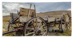 Old Buckboard Wagon Beach Sheet