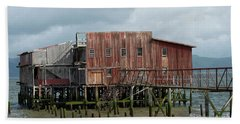 Old Building Astoria Oregon Beach Towel