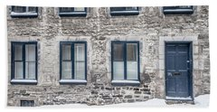 Old Building In Quebec City Beach Towel