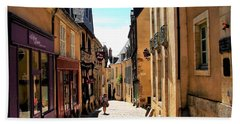 Old Buildings In France Beach Towel
