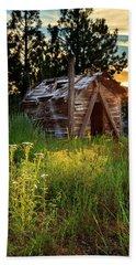 Old Cabin At Sunset Beach Sheet