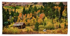 Old Cabin In Hope Valley Beach Towel