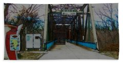Old Chain Of Rocks Bridge Beach Towel