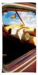Old Chevrolet Dashboard Beach Towel