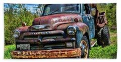 Old Chevrolet Truck Beach Towel