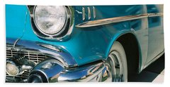 Beach Towel featuring the photograph Old Chevy by Steve Karol