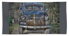 Beach Towel featuring the photograph Old Chevy Truck by Savannah Gibbs
