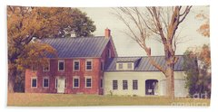 Old Colonial Farm House Vermont Beach Sheet by Edward Fielding