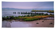 Beach Towel featuring the photograph Old Columbia River Docks by Bryan Carter
