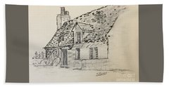 Old Cottage Beach Towel