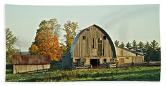 Old Country Barn_9302 Beach Sheet by Michael Peychich