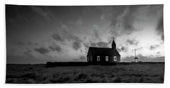 Old Countryside Church In Iceland Beach Towel by Joe Belanger