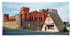 Old Deer Lodge Prison, Downtown, Vintage Beach Sheet