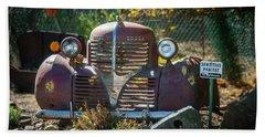 Old Dodge Rust Bucket Beach Towel