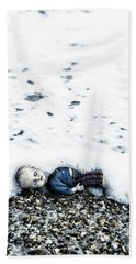 Old Doll On The Beach Beach Towel