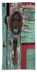 Beach Towel featuring the photograph Old Door Knob 2 by Joanne Coyle