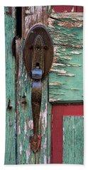 Old Door Knob 2 Beach Sheet