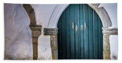 Old Doorway In Monsaraz Beach Towel